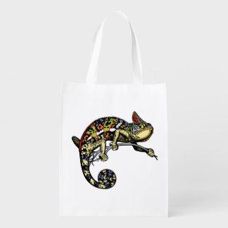 camaleón bolsa reutilizable