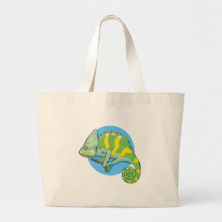 camaleón bolsa lienzo