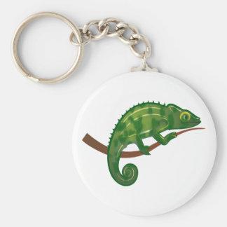 Camaleón chameleon llavero redondo tipo pin
