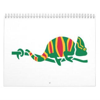 Camaleón coloreado calendarios