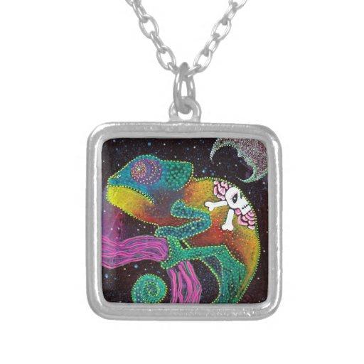 Camaleón colorido grimpolas personalizadas