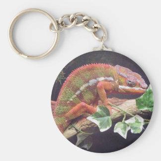 Camaleón de la pantera llavero redondo tipo pin