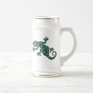 Camaleón decorativo taza de café