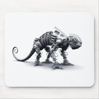 Camaleón del Cyborg Tapetes De Raton