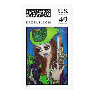 Camaleón femenino del pirata sello