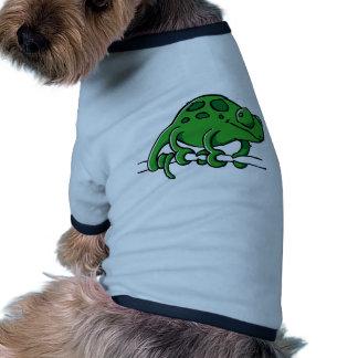 Camaleón lindo camisetas de mascota