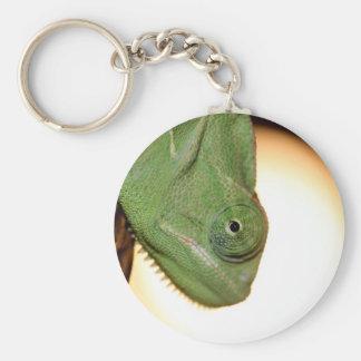 camaleón llavero redondo tipo pin