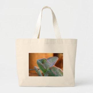 Camaleón velado bolsa tela grande