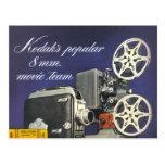 Cámara 1942 y proyector de película postales