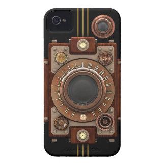 Cámara #1B (negro) de Steampunk iPhone 4 Case-Mate Funda