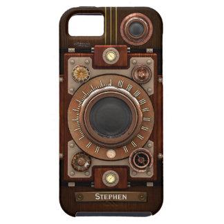 Cámara 1C Vibe de Steampunk del vintage iPhone 5 Fundas