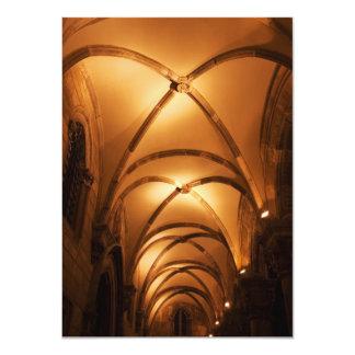 "Cámara acorazada acanalada de Palace Illuminated Invitación 4.5"" X 6.25"""