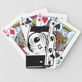 Cámara, blanco y negro baraja de cartas