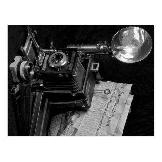 Cámara clásica de la prensa tarjetas postales