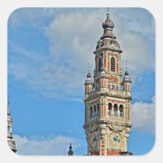 Cámara de Comercio de la ciudad Lille, Francia Pegatina Cuadrada