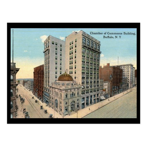 Cámara de Comercio, vintage 1915 del búfalo Postal