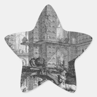 Cámara de entierro inventada y diseñada de acuerdo pegatina en forma de estrella