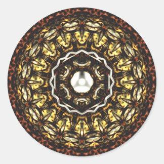 Cámara de la antimateria pegatina redonda