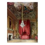 Cámara de la cama del estado de Queen Mary, Hampto Tarjeta Postal