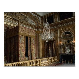 Cámara de la cama del rey, palacio de Versalles, Tarjeta Postal