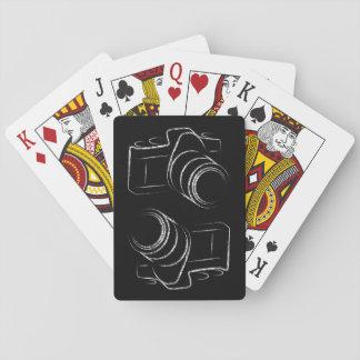 Cámara de la foto barajas de cartas