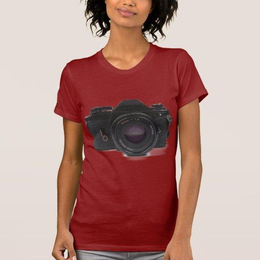 cámara de la foto del slr - diseño clásico camisetas