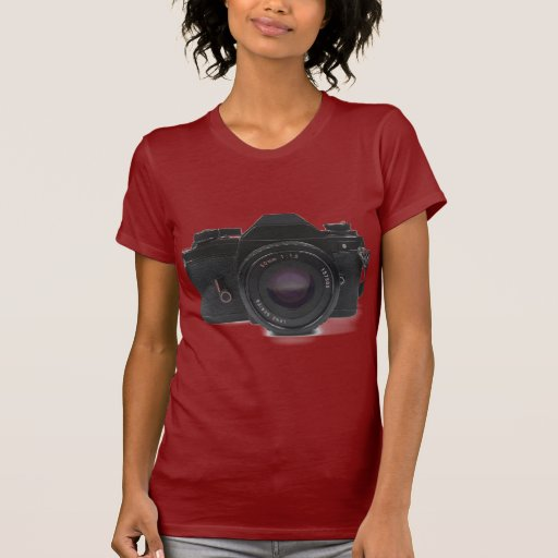 cámara de la foto del slr - diseño clásico playera