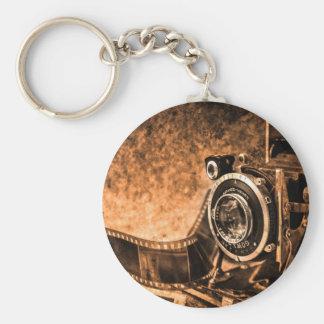 Cámara de la película del vintage - fotografía llaveros personalizados