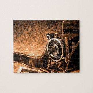Cámara de la película del vintage - fotografía puzzle