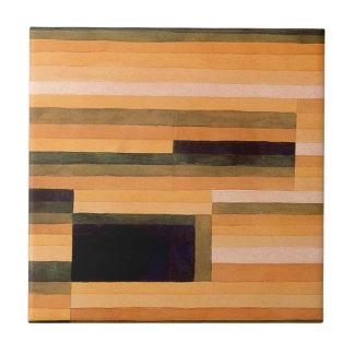 Cámara de la roca de Paul Klee Azulejo Cuadrado Pequeño