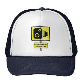 Cámara de la velocidad del camino gorra