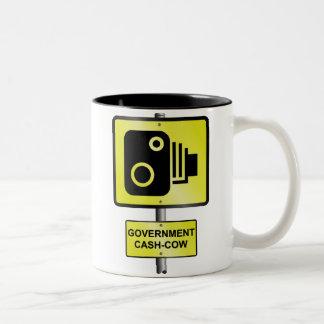 Cámara de la velocidad del camino tazas de café