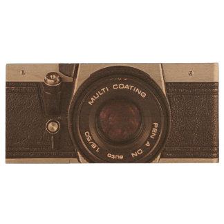 cámara de los años 80 pen drive de madera USB 2.0