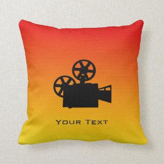 Cámara de película amarillo-naranja cojín