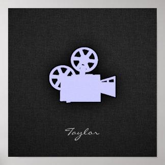 Cámara de película azul de la lavanda impresiones