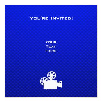 """Cámara de película azul invitación 5.25"""" x 5.25"""""""