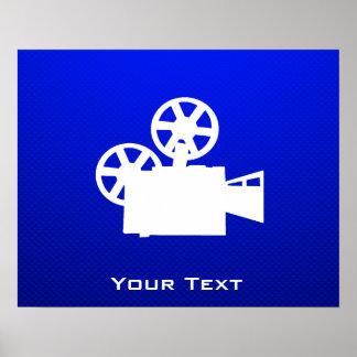 Cámara de película azul impresiones