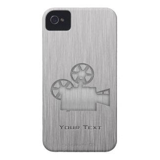Cámara de película cepillada de la Metal-mirada iPhone 4 Cobertura