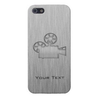 Cámara de película cepillada de la Metal-mirada iPhone 5 Fundas