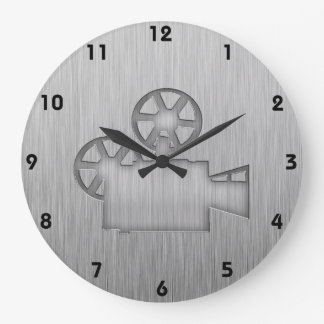 Cámara de película cepillada de la Metal-mirada Reloj