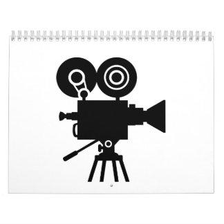Cámara de película de la película calendario de pared