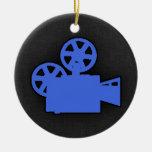 Cámara de película del azul real adornos