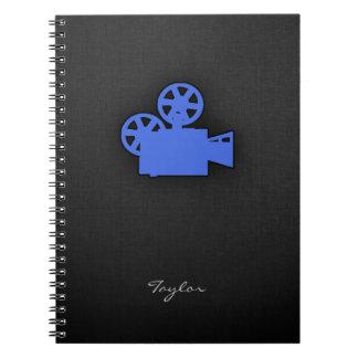 Cámara de película del azul real notebook