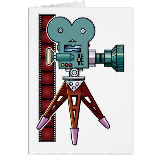 Cámara de película del dibujo animado tarjeta de felicitación