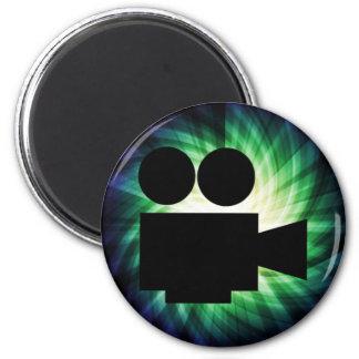 Cámara de película fresca; Película video Imán Redondo 5 Cm