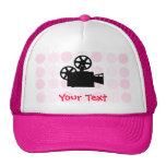Cámara de película linda gorras de camionero