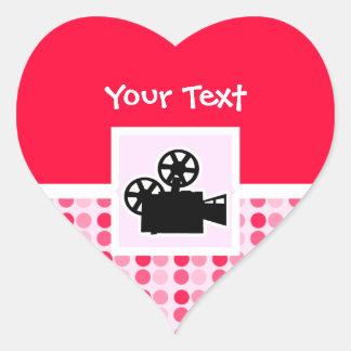 Cámara de película linda calcomania de corazon