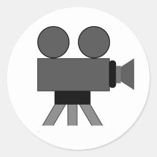 Cámara de película pegatinas redondas