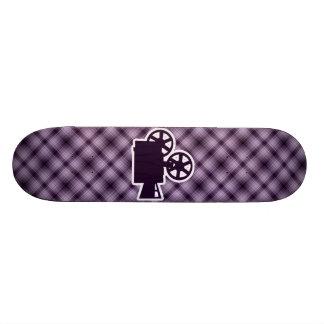 Cámara de película púrpura monopatin personalizado