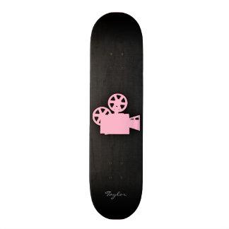 Cámara de película rosa clara patín